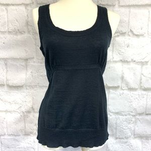Linen and Cotton Blend Sweater Tank Top